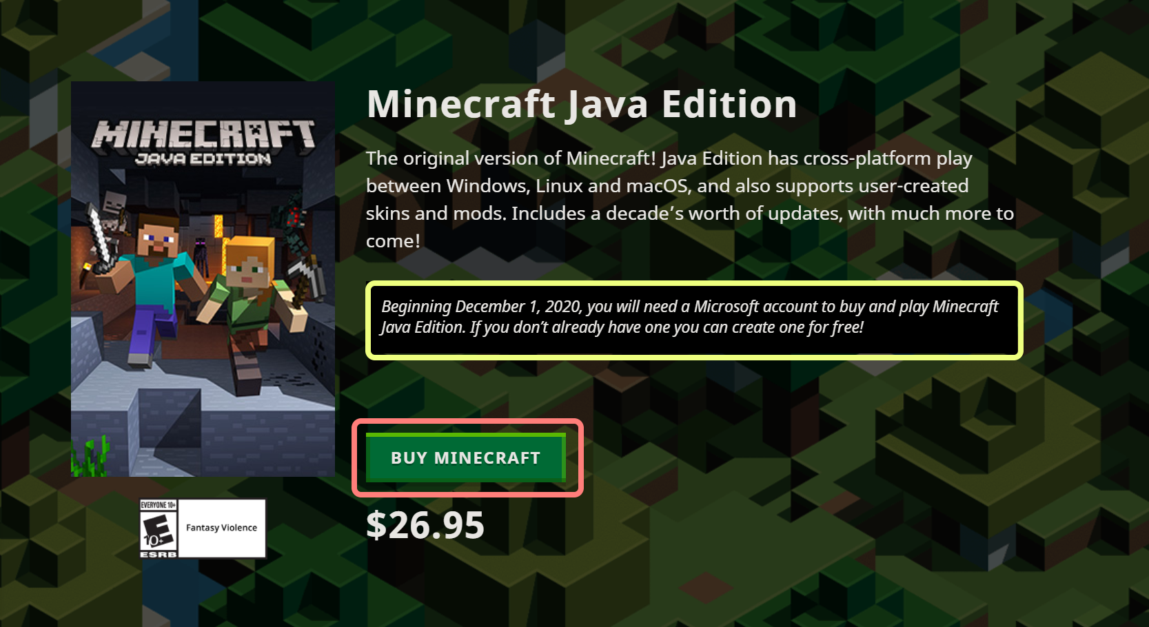 How To Purchase Minecraft Java Edition With A Microsoft Account Home